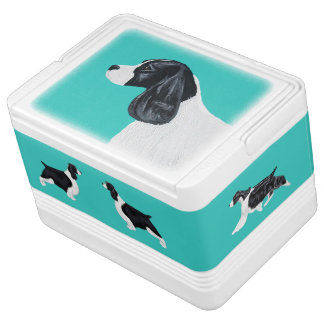 English Springer Spaniel Igloo Cooler - Aqua