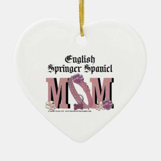 English Springer Spaniel MOM Ceramic Heart Decoration