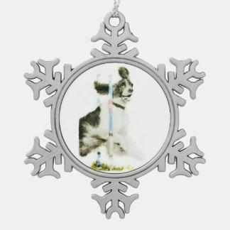 English Springer Spaniel Pewter Snowflake Decoration