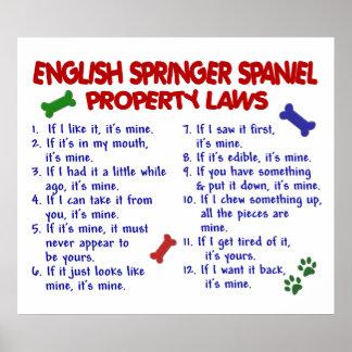 ENGLISH SPRINGER SPANIEL PL2 POSTER