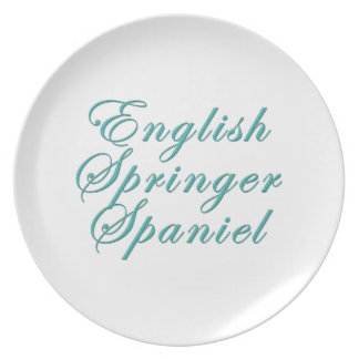 English Springer Spaniel Dinner Plates