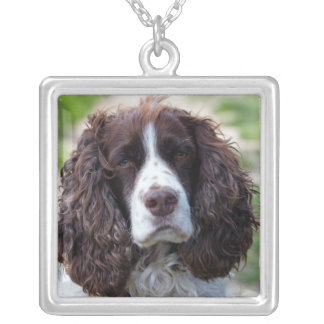 english springer spaniel.png silver plated necklace