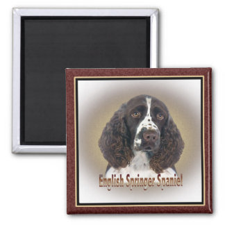 English Springer Spaniel portrait Magnet