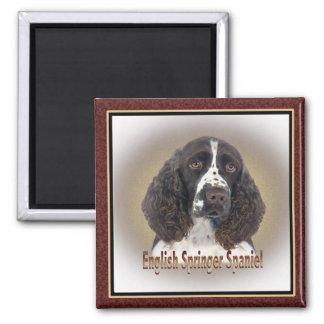 English Springer Spaniel portrait Square Magnet