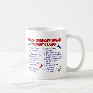 ENGLISH SPRINGER SPANIEL Property Laws 2 Basic White Mug