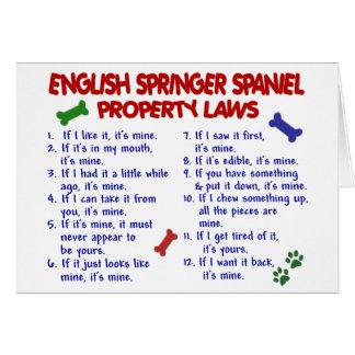 ENGLISH SPRINGER SPANIEL Property Laws 2 Card