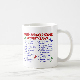ENGLISH SPRINGER SPANIEL Property Laws 2 Coffee Mug
