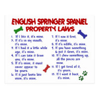 ENGLISH SPRINGER SPANIEL Property Laws 2