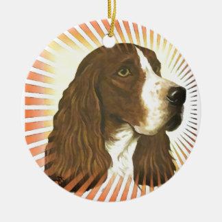 English Springer Spaniel Round Ceramic Decoration