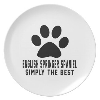 English Springer Spaniel Simply the best Plates