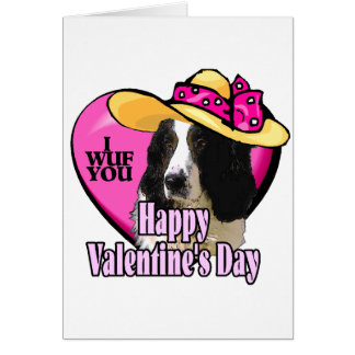 English Springer Spaniel Valentines Greeting Card