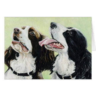 English Springer Spaniels Art Note Cards