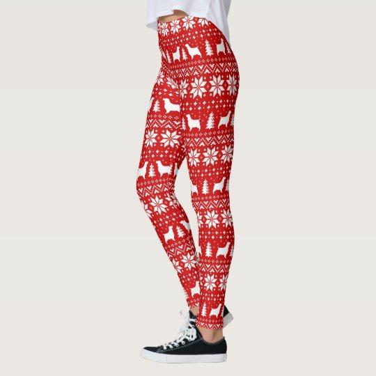 English Springer Spaniels Christmas Pattern Leggings