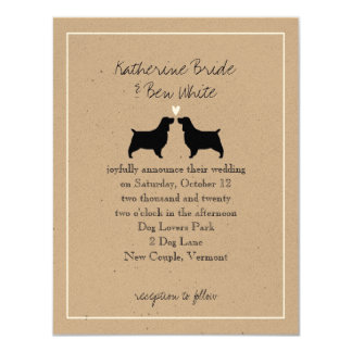 English Springer Spaniels Wedding Invitation