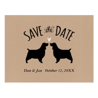 English Springer Spaniels Wedding Save the Date Postcard