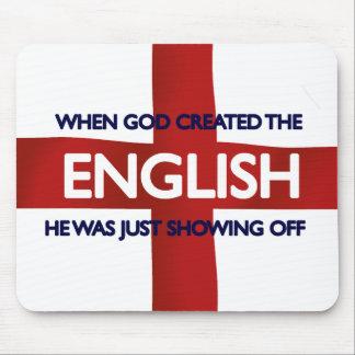 English St George s Day God Created Mousepad