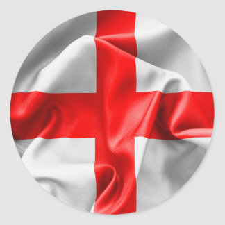 English St Georges Cross Flag Classic Round Sticker