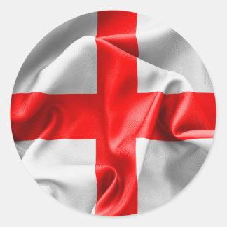 English St Georges Cross Flag Round Sticker