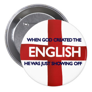 English St George's Day God Created 7.5 Cm Round Badge