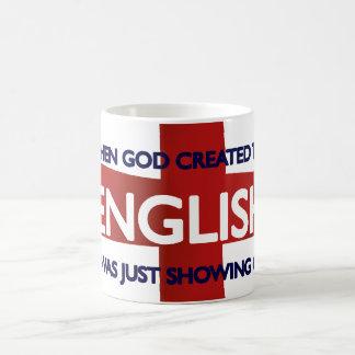 English St George's Day God Created Basic White Mug