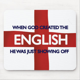 English St George's Day God Created Mouse Mat
