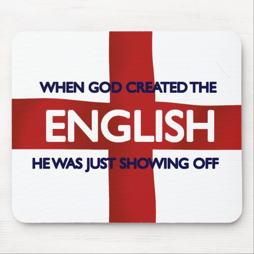 English St George's Day God Created Mousepad