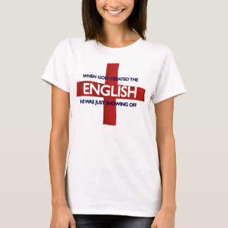 English St George's Day God Created T-Shirt