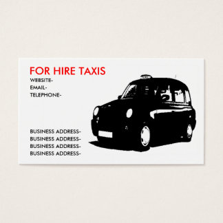 English Taxi Business Card