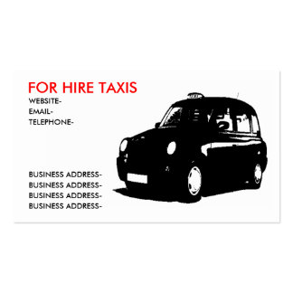 English Taxi Pack Of Standard Business Cards