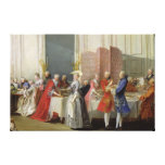 English Tea in the Salon des Quatre Glaces Gallery Wrapped Canvas