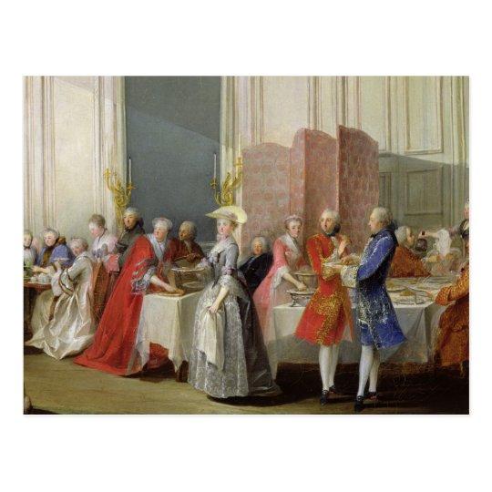 English Tea in the Salon des Quatre Glaces Postcard