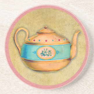 English Tea Kettle Drink Coaster
