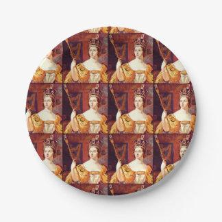 English Tea Party Queen Victoria Paper Plates