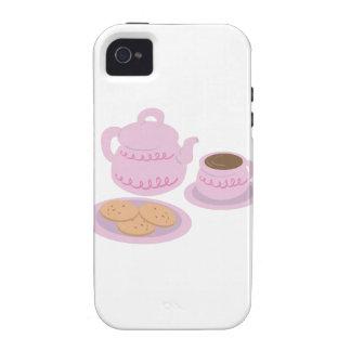 English Tea Time Vibe iPhone 4 Cases