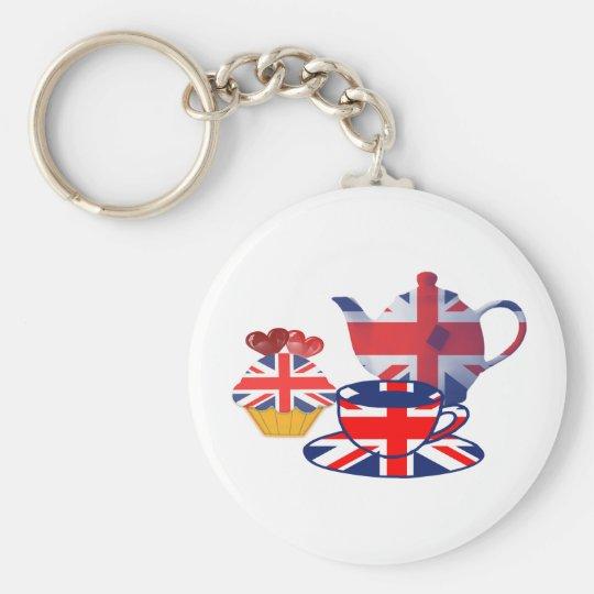 English Tea-time gifts Key Ring