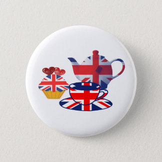 English Tea-time, Union Jack Art Gifts 6 Cm Round Badge