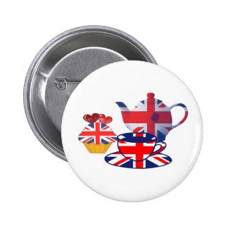 English Tea-time, Union Jack Art Gifts 6 Cm Round Badge