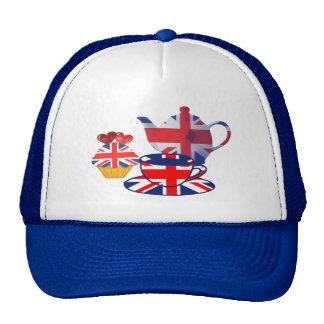English Tea-time, Union Jack Art Gifts Cap
