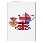 English Tea-time, Union Jack Art Gifts Greeting Card