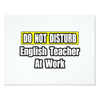 English Teacher At Work Personalized Invites