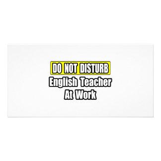 English Teacher At Work Photo Card