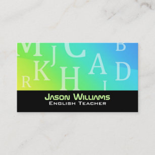 English teacher business cards business card printing zazzle uk english teacher business cards reheart Gallery