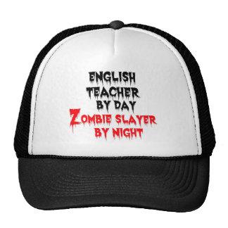 English Teacher by Day Zombie Slayer by Night Cap