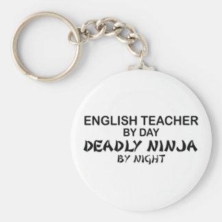 English Teacher Deadly Ninja Basic Round Button Key Ring