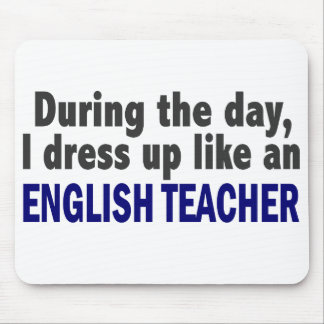 English Teacher During The Day Mouse Mat