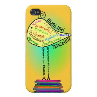 """English Teacher """"Grammar Bird"""" Gifts iPhone 4 Covers"""