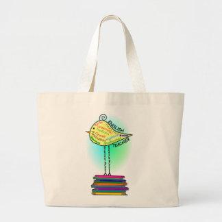 """English Teacher """"Grammar Bird"""" Gifts Canvas Bag"""