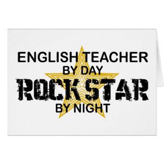 English Teacher Rock Star Card