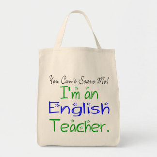 English Teacher Tote Grocery Tote Bag