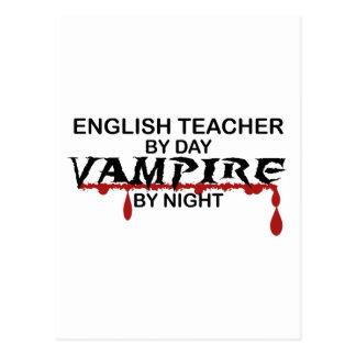 English Teacher Vampire by Night Postcard